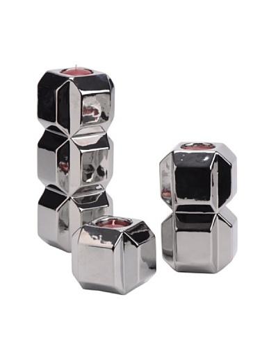 Korb S3 Candelabros Cubo Cromo