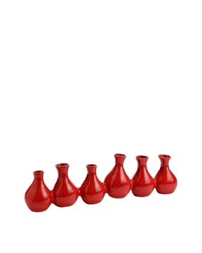 Korb Multi Jarrón Rojo Aluminio