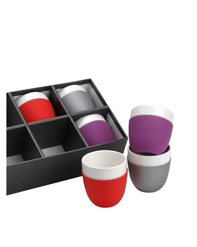 Korb Caja 6 Tazas Expreso 3colores Porcelana