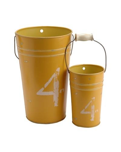 Korb Set 2 Maceteros Amarillo Numero 4