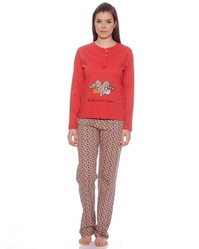 Kukuxumusu Pijama Mujer Corazones