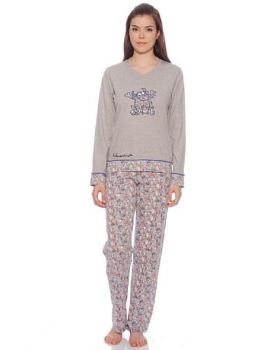 Kukuxumusu Pijama Mujer Garabatos