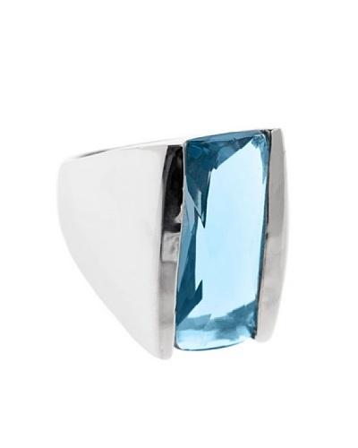 Lagrimas Negras Anillo Piedra Circonita Azul