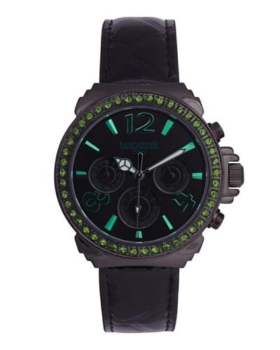 Lancaster 0633LZBKNRVR – Reloj de Señora cuarzo piel Negro