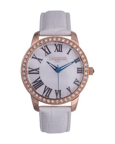Lancaster 0638LZRGBNBN – Reloj de Señora cuarzo piel Blanco