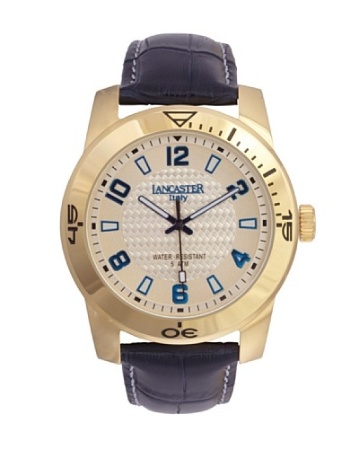 Lancaster 0637LYGCHBL – Reloj de Caballero cuarzo piel Azul
