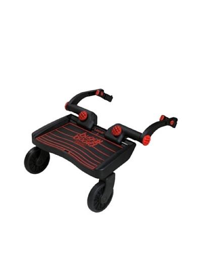 Lascal 2810 – Tabla con ruedas para carrito, color negro y rojo