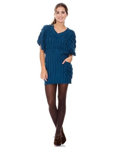 LAVAND Vestido Knit Oversized Azul