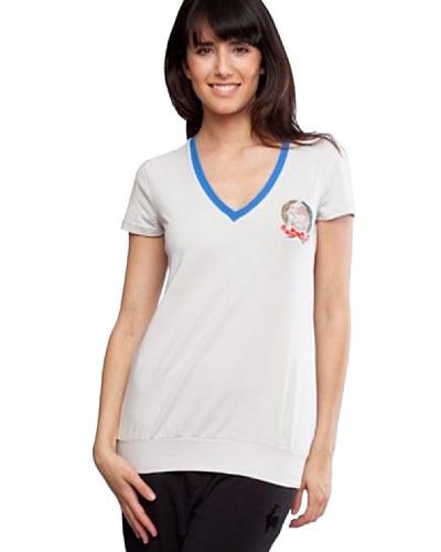 Le Coq Camiseta Escudo Gris Claro