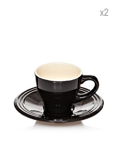 Le Creuset Set 2 Tazas Espresso+Plato