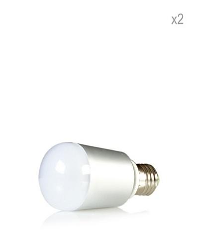 Hispania Pack 2 Bombillas LED E27 casquillo grueso 6W de consumo | 500 lumens, luz cálida 3000K