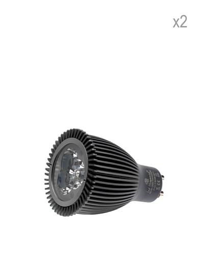 Hispania Pack 2 Dicroicas LED GU10 borne 7W de consumo | 440 lumens, luz cálida 3000K