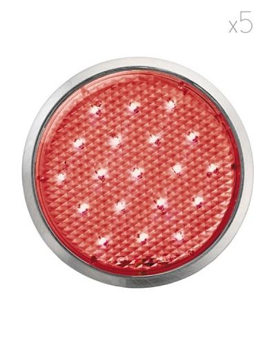 Leonardo Lámpara de Exterior Kit 5 Piezas Roma Rojo