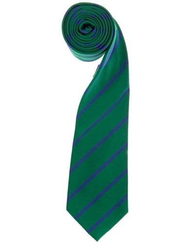 Lester Corbata Riga Reps Verde / Azul