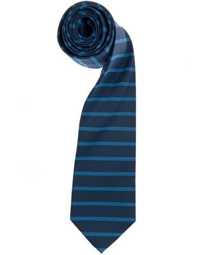 Lester Corbata Raya Triple Horizontal Azul / Azul