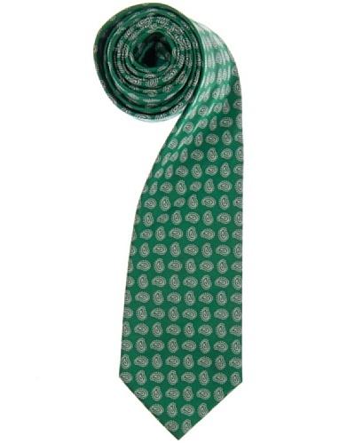 Lester Corbata Cashmere Punteado Verde / Blanco