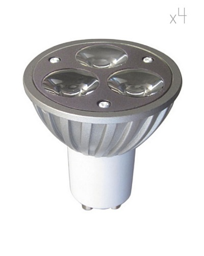 Leuci by Relco Kit 4 Focos 3 LED Gu 10 4W