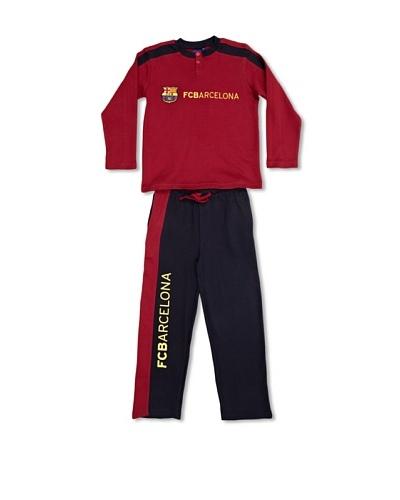 Licencias Pijama Niño Cuello Abierto Manga Larga Fútbol Club Barcelona