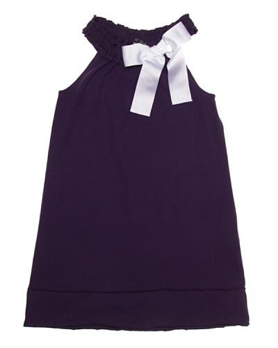 Lili Gaufrette Vestido Niña Lazo Contraste
