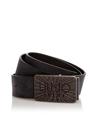 Liu Jo Cinturón Hebilla Logotipo Negro