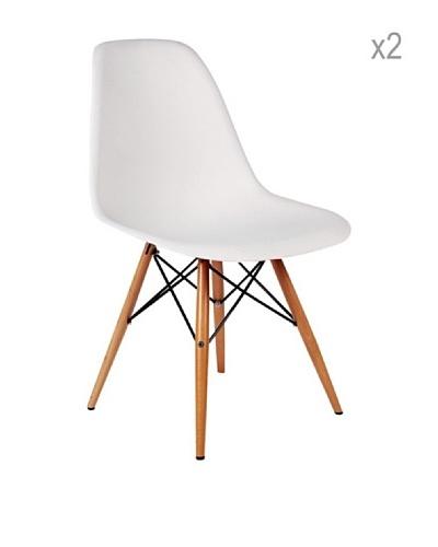 Lo + De Moda Set De 2 Sillas Wooden Color Edition Blanco