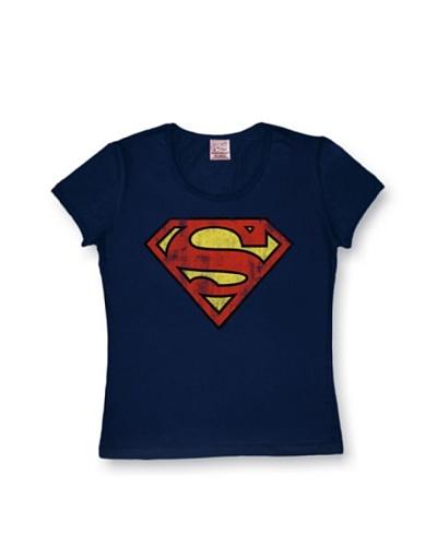 f27305c4a Logoshirt Mujer Camiseta Superman Azul Marino