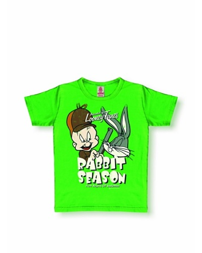 Logoshirt Camiseta Niños vintage Looney Tunes - Rabbit Season Verde Pistacho