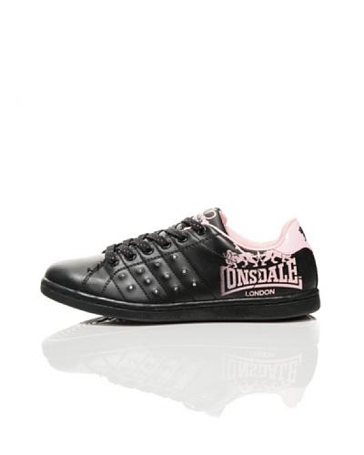 Lonsdale Zapatillas Bling I Negro / Rosa