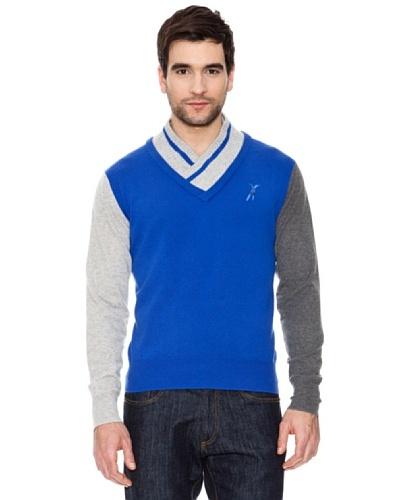 Look Jersey Double Vee Azul Cobalto