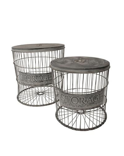 Love Industrial Set de cestas para la ropa