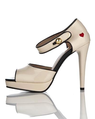 Love Moschino Sandalias Bicolor Crema/Negro