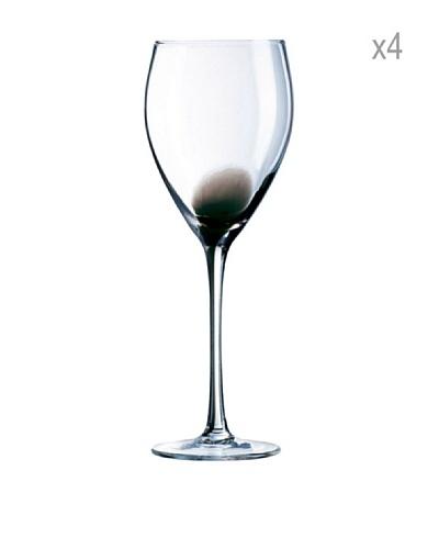 Luminarc Estuche 4 Copas Vino 27 CL Modelo Drip Negro