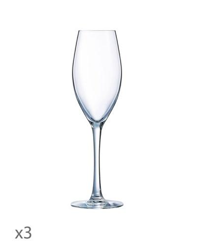 Luminarc Estuche 3 Copas Champagne 22 cl Modelo Felicity