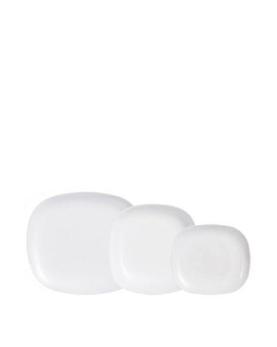 Luminarc Vajilla Rectangular 18 Piezas Modelo Sweet Line Blanco
