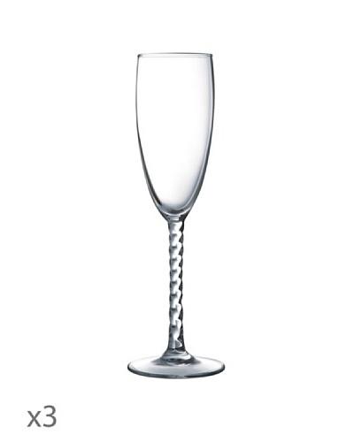 Luminarc Estuche 3 Copas Champagne 17 cl Modelo Authentic Transparente