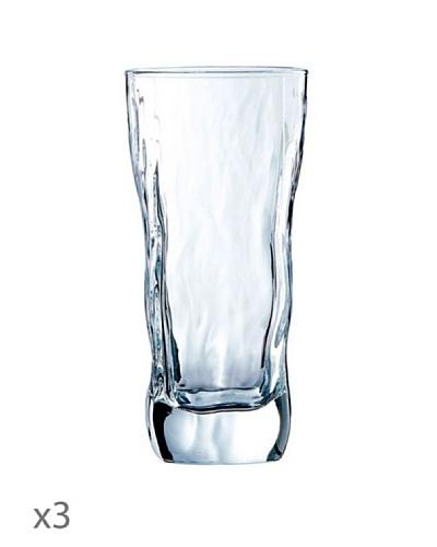 Luminarc Vasos Estuche 3 Forma Alta 47 cl Modelo Icy