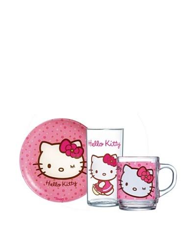 Luminarc Set 3 Piezas Desayuno Modelo Kitty Sweet Pink