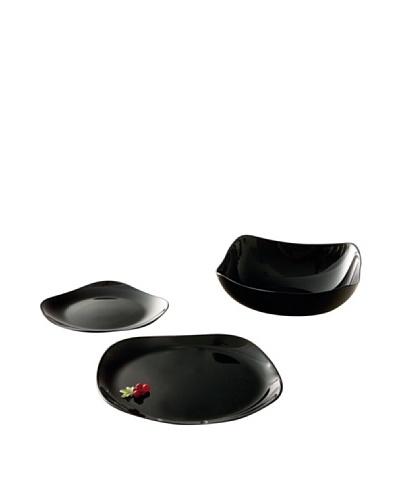 Luminarc Vajilla Redonda 19 Piezas Modelo Yalta Black