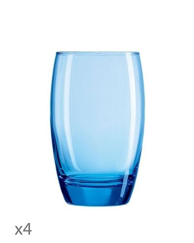Luminarc Estuche 4 Vasos Forma Alta 35 cl Modelo Salto Ice Blue