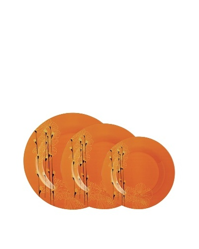 Luminarc Vajilla Redonda 18 Piezas Modelo Rhapsody Naranja