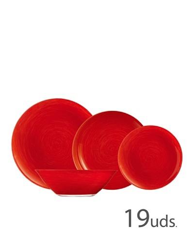 Luminarc Vajilla Redonda 19 Piezas Modelo Stonemania Red
