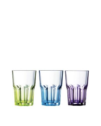 Luminarc Estuche 6 Vasos Forma Alta 31 Cl Colores Surtidos Modelo Crazy Colors