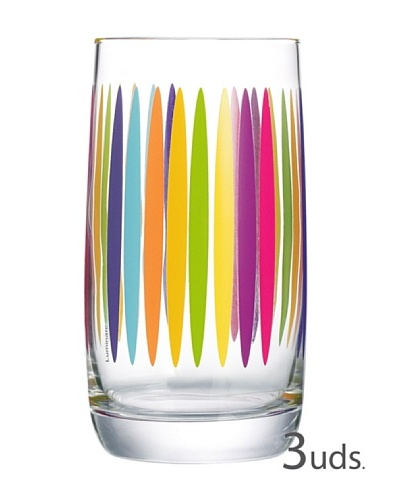Luminarc Vasos Estuche 3 Forma Alta 33 Cl Modelo Vigne Fizz