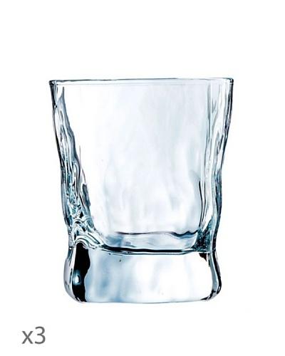 Luminarc Vasos Estuche 3 Forma Baja 30 cl Modelo Icy
