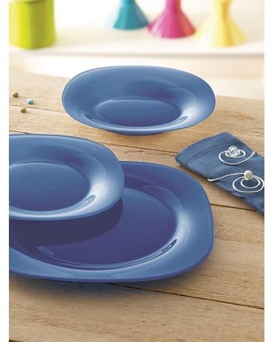 Luminarc Vajilla Cuadrada 18 Piezas Modelo Carina Colors Azul