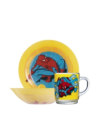 Luminarc Set 3 Piezas Modelo Spiderman Comic