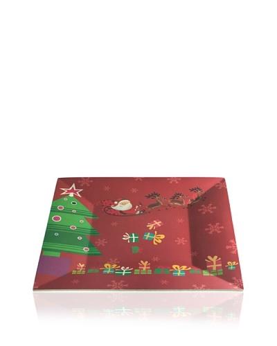 Lurch Big Green Foot Plato Cuadrado Navidad Rojo 28 cm