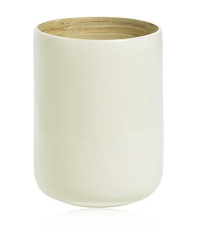 Lurch Zena Recipiente de bambú Blanco 10 cm x 15cm
