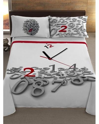 Manterol Cubrecamas Reloj Rojo