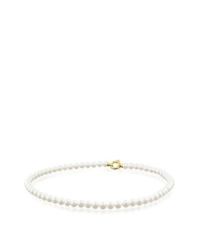 Manufacture Royale Collar de Oro Amarillo 9 ct con Perlas Blancas (8-8,5 mm)